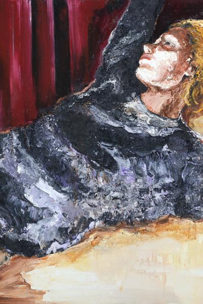 « Intimis I » huile sur toile 197x130 cm, 2014 Collection privée.