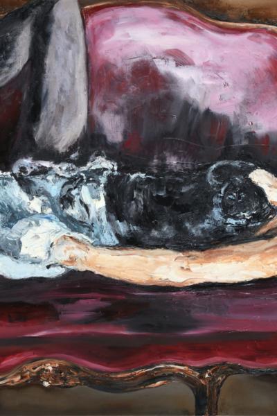 « Intimis II » huile sur toile 197x130 cm, 2014