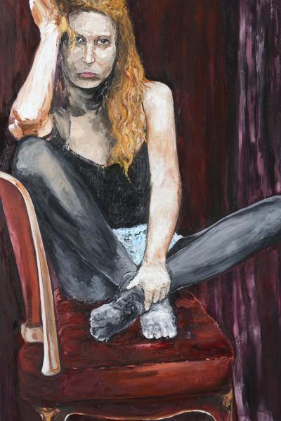 Intimis, huile sur toile 197x130 cm,2014