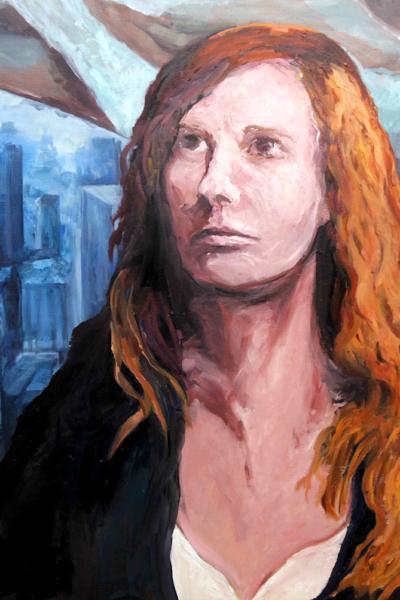 Laur, huile sur toile 147x114 cm,2019