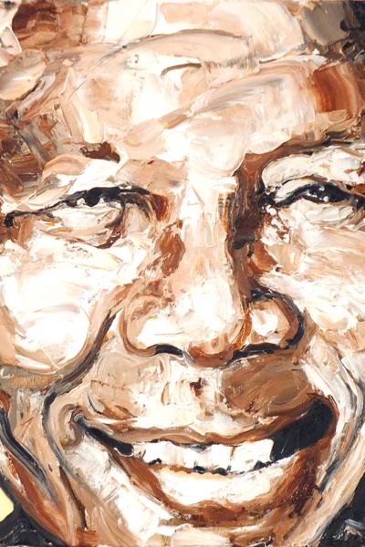 Mandela, huile sur toile 60x60cm, 2009
