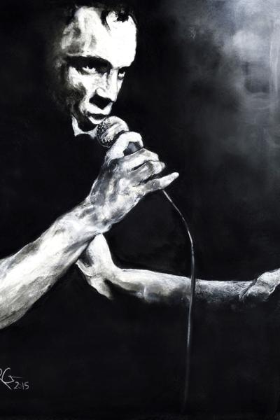 Portrait de Mano Solo, pastel sur papier, 130x130 cm,2015