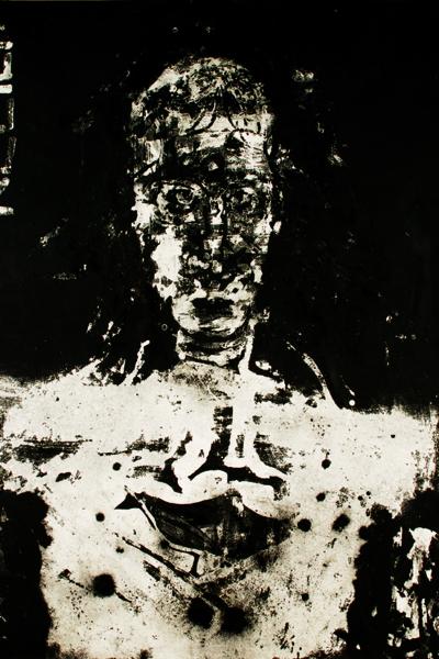 Relief, huile sur toile et collage, 237x198cm, 2005
