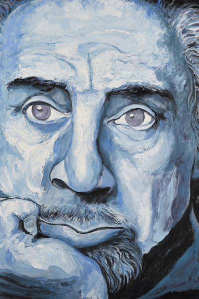 Romain Gary, 2019 huile sur toile 114x147cm