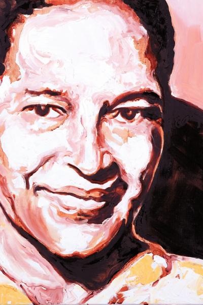 Rosa Parks, huile sur toile 60x60cm, 2009