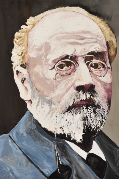 Emile Zola, huile sur toile 114x147 cm, 2019