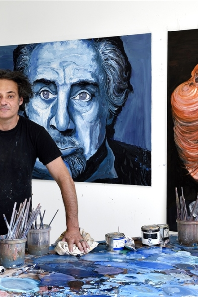Portrait, atelier Ivry s/ seine, 2019. Photo Bertrand Rieger.