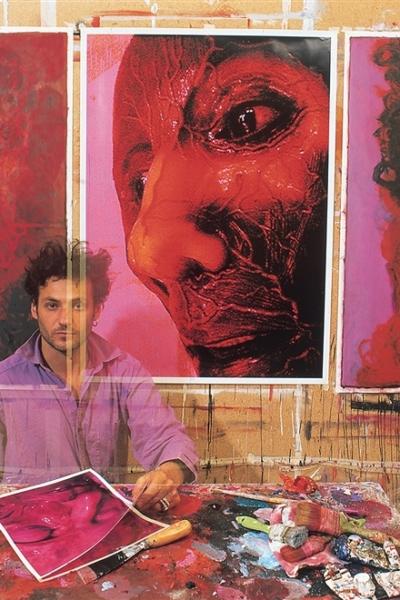 Portrait, atelier Paris, 2000. Photo Bertrand Rieger.