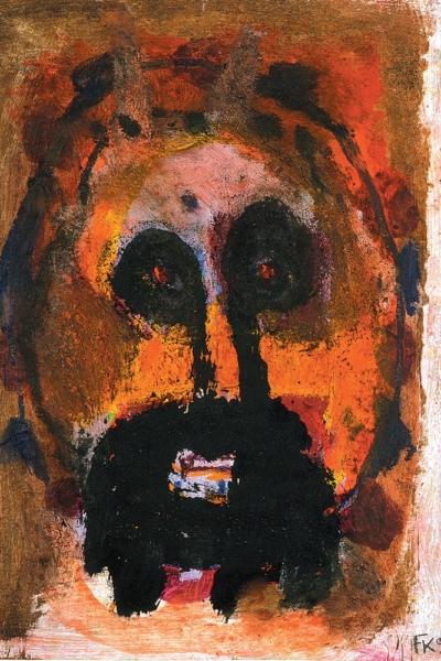 Slave, huile sur papier, 30x40cm, 1999. Collection privée.