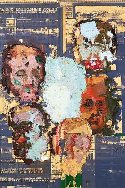 Les disparues II , huile sur toile 150x150 cm, 2001. Collection privée.