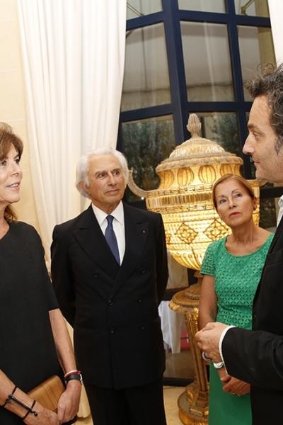 Portrait, Rencontre avec la princesse Caroline de Monaco, Galerie Adriano Ribolzi, Monaco, 2015.Photo J-C Vinaj