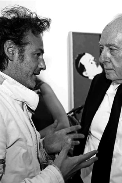 Portrait, Rencontre avec le peintre Eduardo Arroyo, 2013. Photo Michel Lunardelli.