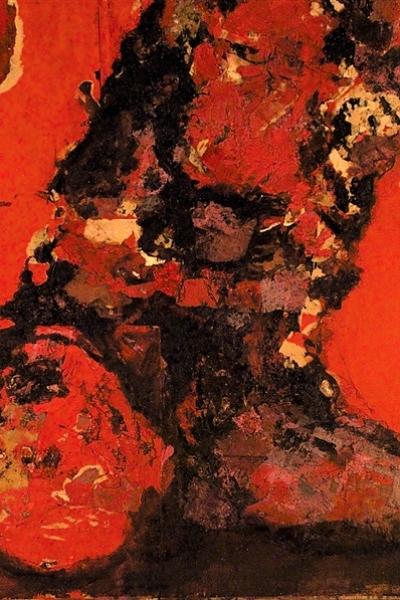 Chute de corps, huile sur toile 130x197 cm, 2001.Collection privée.