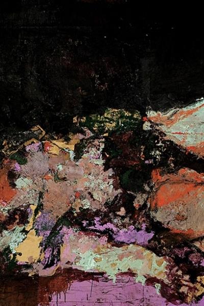 Obscénité&Fureur, huile sur toile 130x197 cm, 2001.Collection privée.