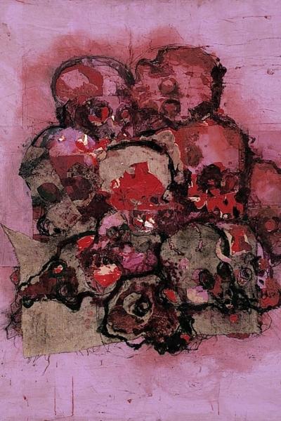 Vanité collective, huile sur toile 150x150 cm, 2001. Collection privée.