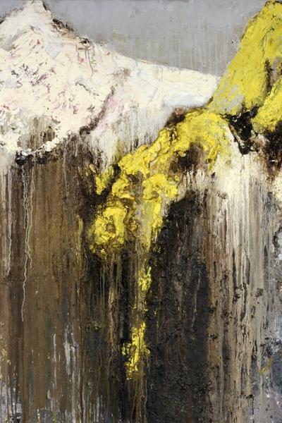 Nocturne, huile sur toile 150x150 cm, 2001. Collection privée.