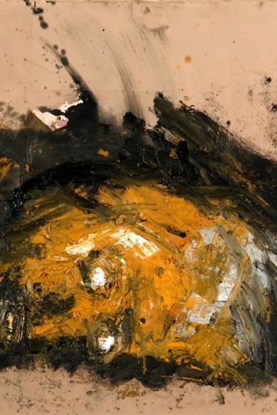 Face, huile sur toile 56 x100 cm, 2001. Collection privée.