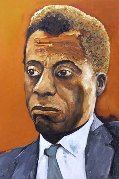 James Baldwin, huile sur toile 114x147 cm, 2020