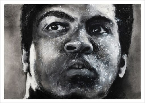 Mohamed Ali, 2021, impression encre pigmentaire, 50x70 cm, Fred Kleinberg, art édition.