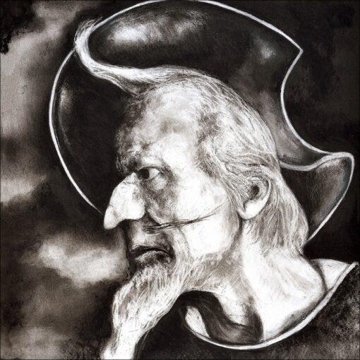 Don Quichotte, détail, 2021, impression encre pigmentaire, 50x70 cm, Fred Kleinberg, art édition.