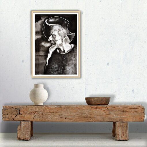 Don Quichotte, 2021, impression encre pigmentaire, 50x70 cm, Fred Kleinberg, art édition.
