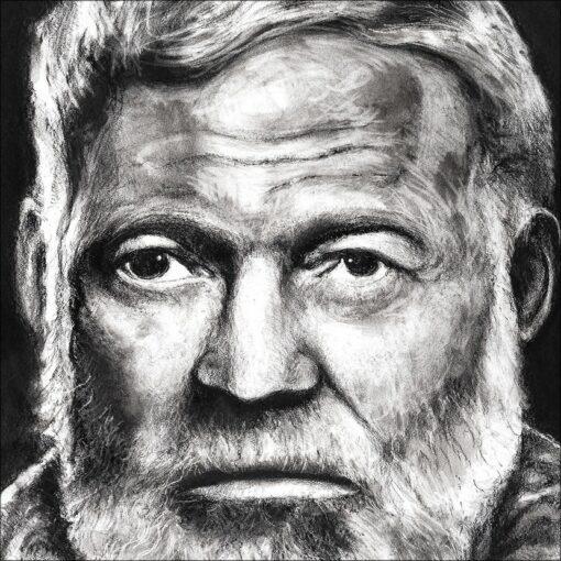 Ernest Hemingway, détail, 2021, impression encre pigmentaire, 50x70 cm, Fred Kleinberg, art édition.