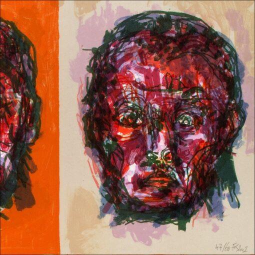 Face, détail, 2002, lithographie, 55x76 cm, Fred Kleinberg, art édition.