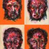 Face, 2002, lithographie, 55x76 cm, Fred Kleinberg, art édition.