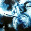 Fumeur, détail, 2021, impression encre pigmentaire, 30x40 cm, Fred Kleinberg, art édition.