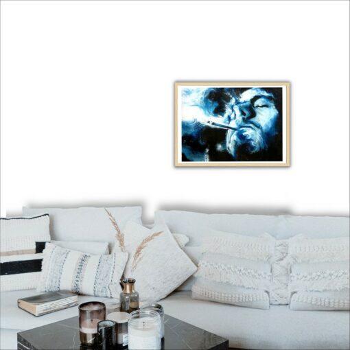 Fumeur, 2021, impression encre pigmentaire, 30x40 cm, Fred Kleinberg, art édition.