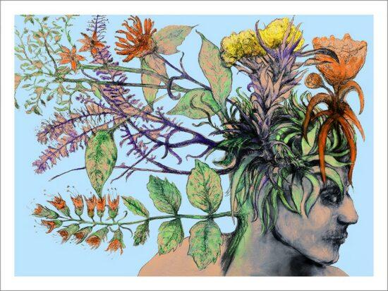 Germination, 2021, impression encre pigmentaire, 30x40 cm, Fred Kleinberg, art édition.