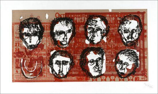 Les disparus, 2002, gravure, 80x140 cm, Fred Kleinberg, art édition.