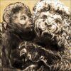 Lion, détail, 2021, impression encre pigmentaire, 30x40 cm, Fred Kleinberg, art édition.