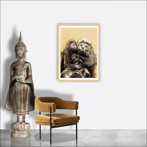 Lion, 2021, impression encre pigmentaire, 30x40 cm, Fred Kleinberg, art édition.
