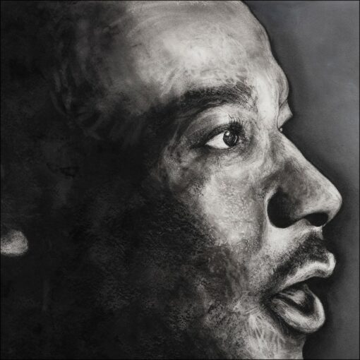 Martin Luther King, détail, impression encre pigmentaire, 50x70 cm, Fred Kleinberg, art édition.