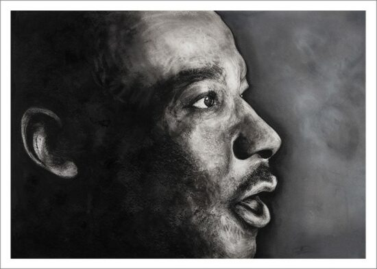 Martin Luther King, impression encre pigmentaire, 50x70 cm, Fred Kleinberg, art édition.