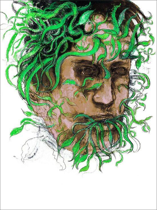 Métamorphose I, 2021, impression encre pigmentaire, 30x40 cm, Fred Kleinberg, art édition.