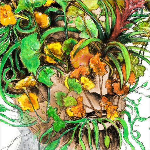 Métamorphose III, détail, 2021, impression encre pigmentaire, 30x40 cm, Fred Kleinberg, art édition.