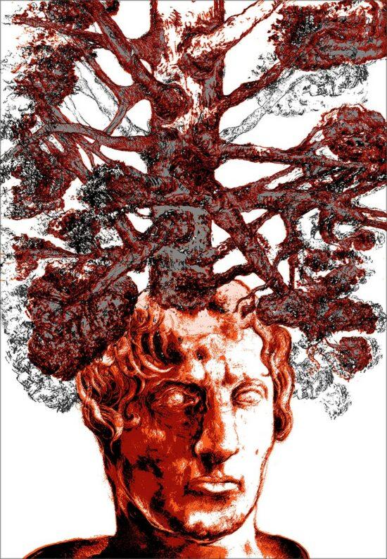 Reborn, 2016, sérigraphie, 50x70 cm, Fred Kleinberg, art édition.