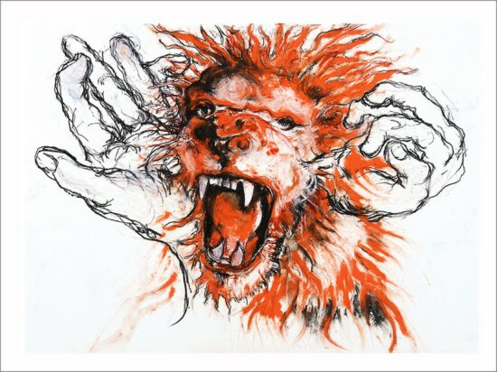 Scream, 2021, impression encre pigmentaire, 30x40 cm, Fred Kleinberg, art édition.