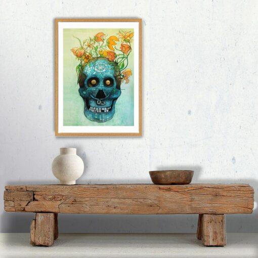 Vanité mexicaine, impression encre pigmentaire, 30x40 cm, Fred Kleinberg, art édition.